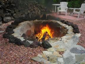 outdoor in ground fire large pit in ground fire pit