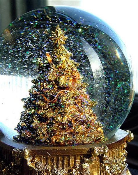 gold snow globe pictures photos and images for facebook