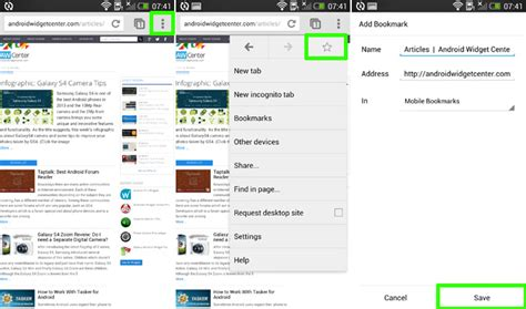 android bookmarks how to bookmark page on chrome for android aw center