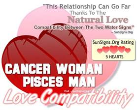 cancer woman and pisces man a naturally compatible