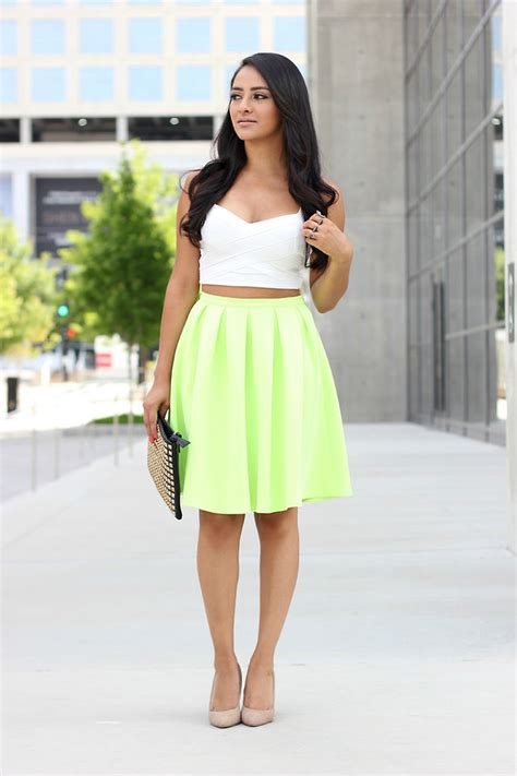 mayte doll topshop crop top bandeau missguided lime