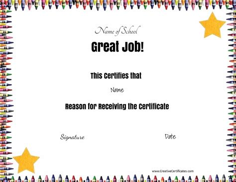 school certificates templates free school certificates awards