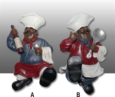 Black Chef Kitchen Decor by Black Chef Kitchen Wall Figurine Towel Hanger Decor