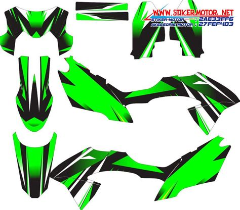 Decal Sticker Striping Klx 150 Bf klx 150 bf 2015 stikermotor net