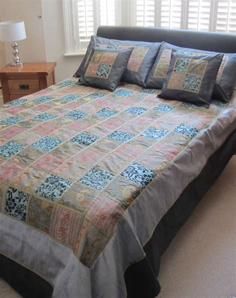 asian bedding silver grey teal indian bedspread set asian bedding