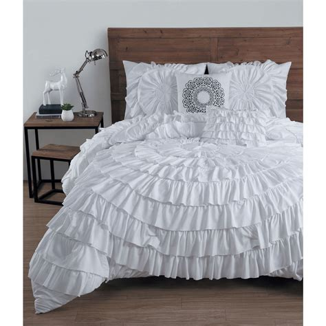 ruffled comforter set avondale manor sadie ruffled 5 piece comforter set ebay