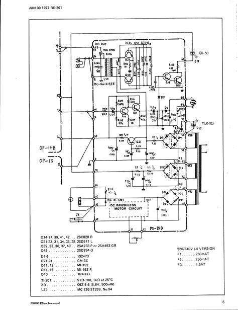 Roland Re 201 Space Echo Repair Gearslutz