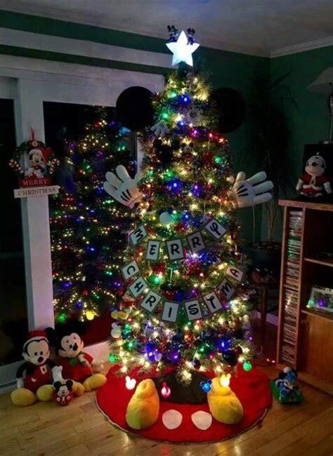 mickey mouse tree christmas tree decorating ideas