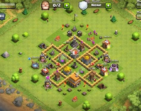 clash of clans town hall 5 defense best coc th5 hybrid base layout best clash of clans town hall level 5 defense strategy