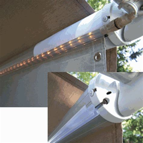 outdoor lights for rv awning rv superstore canada rope light awning track