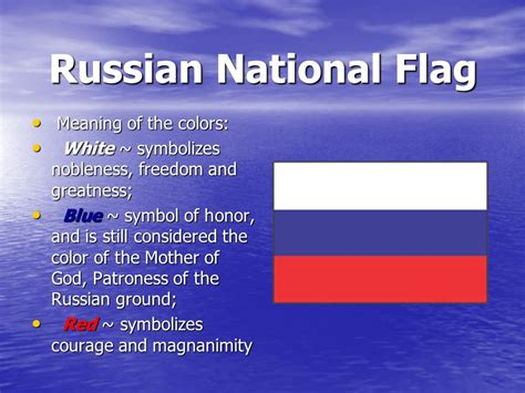 colors of flag meaning russian climate and national flag ppt