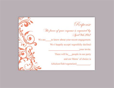 rsvp cards templates sheet printable multiples diy wedding rsvp template editable text word file instant