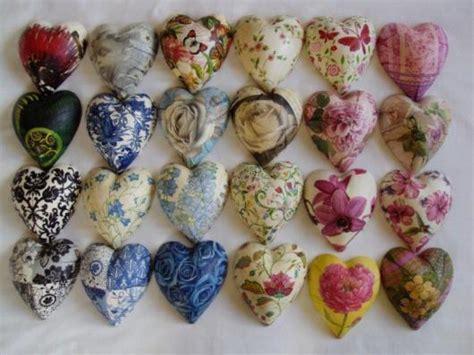 Decoupage Hearts - heartfelt pottery handmade pottery made with in new