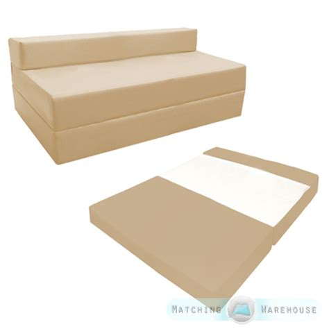 foldable futon mattress fold out waterproof double guest z bed chair folding