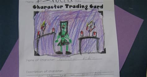 character trading cards template 3rd grade a journey through second grade character trading cards