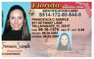 florida id card template florida license and ids