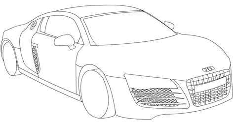 how to draw an audi r8 drawingforall net audi r8 line by leetghostdriver on deviantart