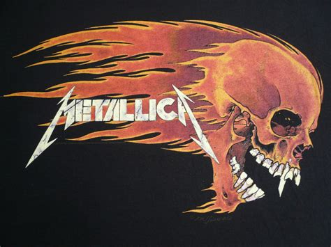 metallica flamming skull t shirt amsterdam waterlooplein