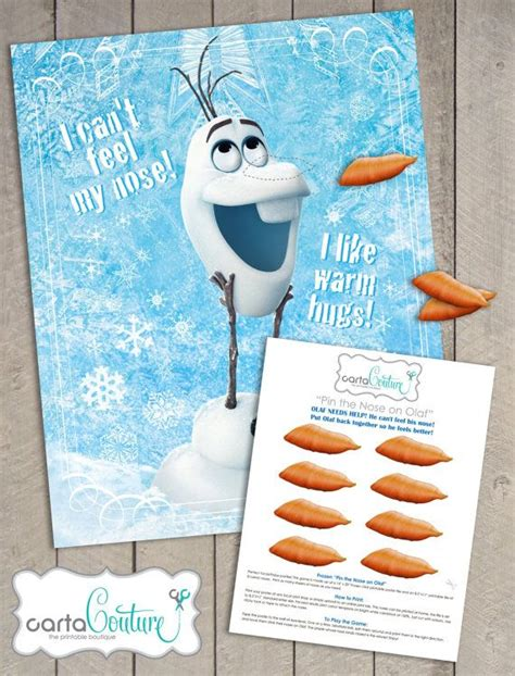 printable pin nose on olaf best photos of olaf poster pin the nose olaf the game