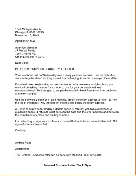 Standard Block Style Business Letter Format dandy personal business letter format letter format writing
