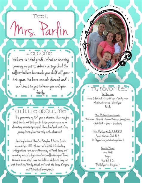 meet the template free template for meet the this is great to use for back to school or the