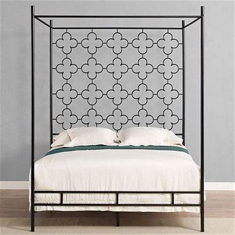 King Size Canopy Bed Frame Classic Modern Black Metal King Size Canopy Bed Frame New
