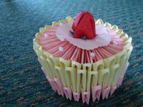 How To Make A Origami Cake - 3d origami birthday cake