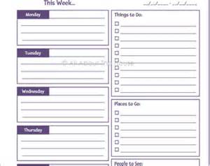 Time Management Daily Planner Templates by Editable Printable Weekly Planner Time Management