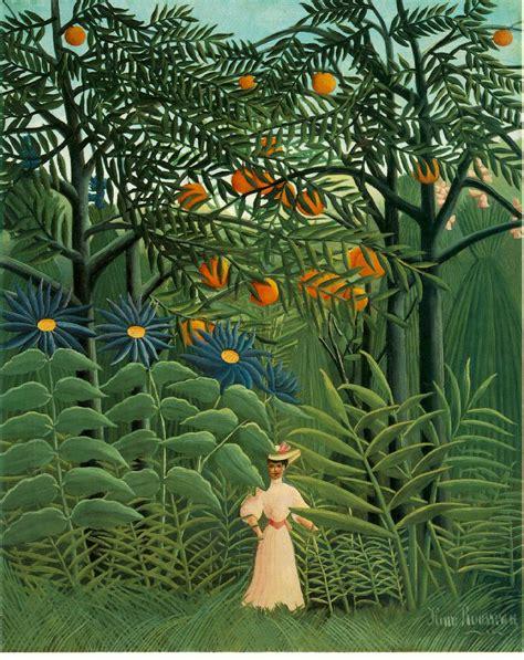 libro exotic gardening webmuseum rousseau henri