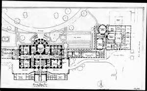 Floor Plan Of The White House by 1943 Press Room Floor Plan White House Historical