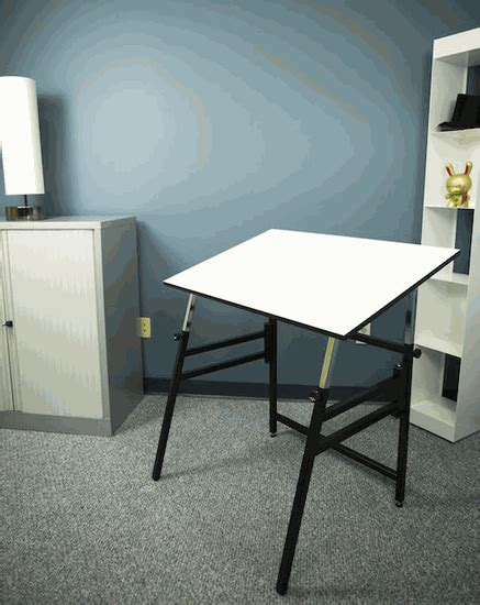 Alvin Professional Folding Drafting Table Black Base Drafting Table Mat