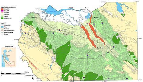 san jose seismic hazard map new liquefaction hazard maps of santa clara valley