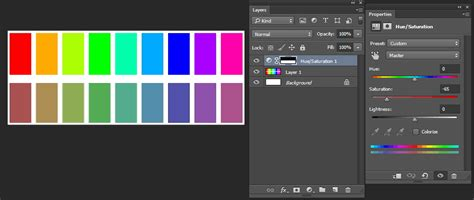 muted color adobe photoshop regular colors vs muted colors graphic