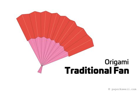 Origami Paper Fan - easy diy origami fan