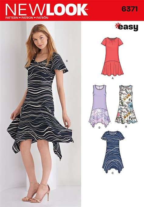 pattern review drop waist dress new look 6371 misses easy dresses sewing pattern