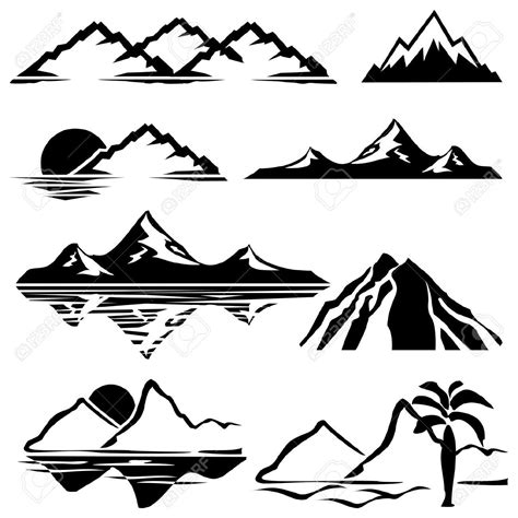 mountain silhouette tattoo mountain silhouette search graphic design