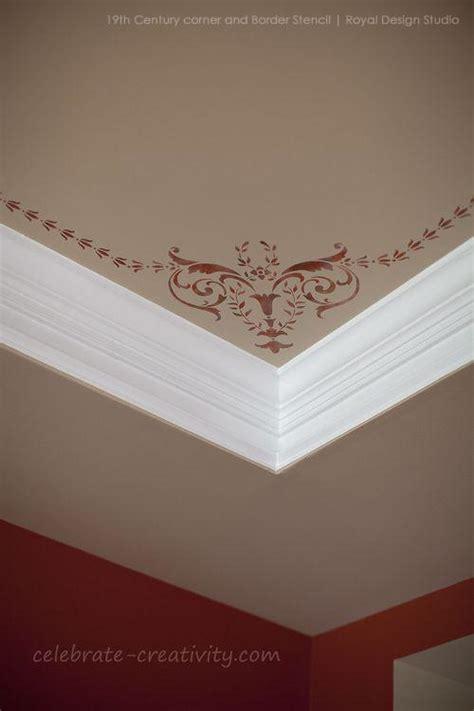 stencils ceiling stencil 19th century corner royal