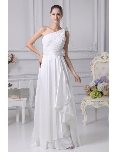 Gorgeous One Shoulder Dresses by Gorgeous One Shoulder Pleated Chiffon Wedding Dress With