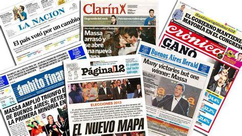 elecciones las tapas de los principales diarios