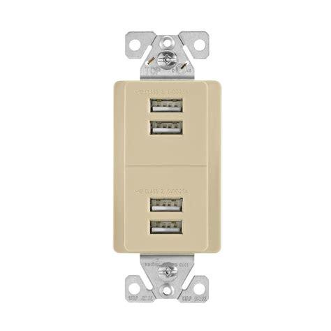 home charging station eaton 5 0 amp 5 volt dc usb charging station ivory 7750v