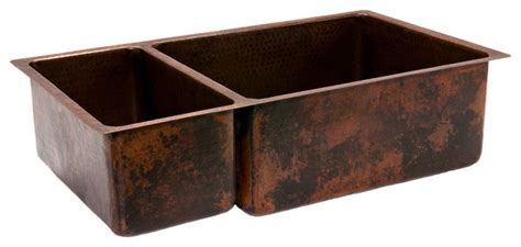 rustic kitchen sinks 33 quot copper kitchen 25 75 basin sink rustic kitchen sinks other metro by lucido luxe