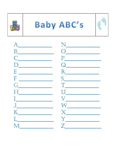 printable alphabet game for baby shower welcome to craftlantis tag printables