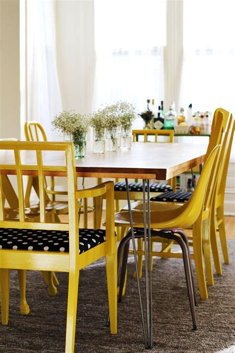 ana white diy hairpin legged dining table featuring  beautiful mess diy projects