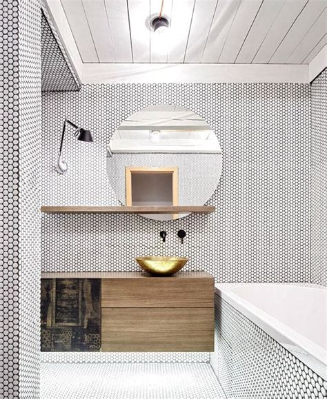 penny bathroom 36 trendy penny tiles ideas for bathrooms digsdigs