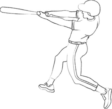 baseball player swinging bat clip art baseball player clipart image clip art outline of a