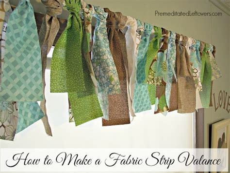 how to make curtains from fabric how to make a fabric strip valance a diy no sew window