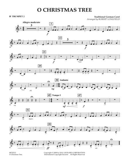 o christmas tree german o tree bb trumpet 2 sheet by traditional german carol sheet plus