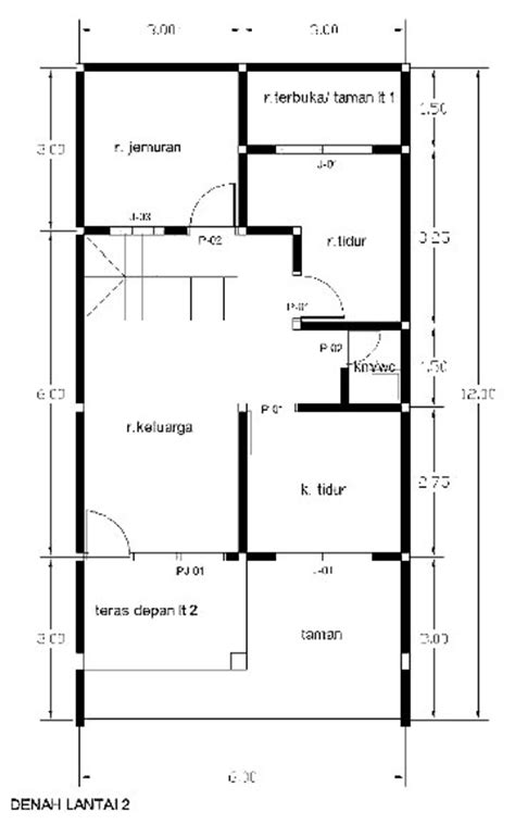 denah new desain rumah minimalis lengkap dengan rab