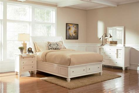 sandy beach bedroom set white coaster sandy beach light platform storage bedroom set