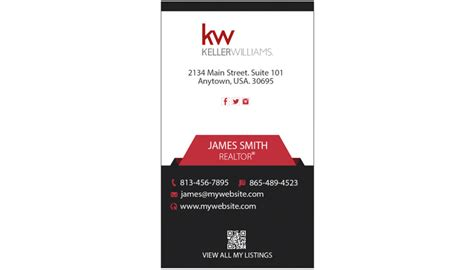 Kw Business Card Template by Keller Williams Business Cards Keller Williams Business
